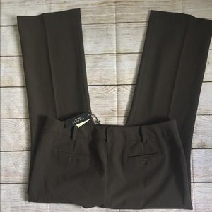 Talbots 16 Petite Trouser Pants Brown NWT